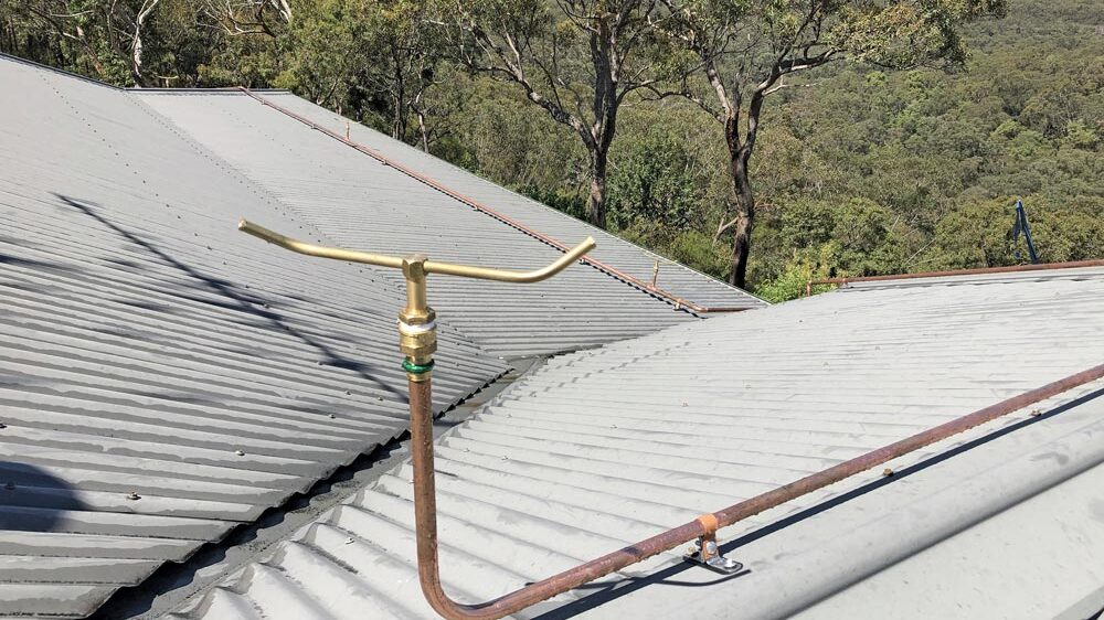Quality brass and copper fittings with careful workmanship ensure the best protection against bushfire.